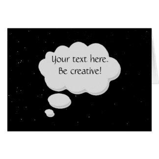 Cartão Pensamento da bolha do texto