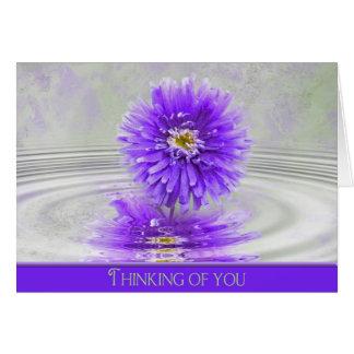 Cartão pensamento da você-dália na água da ondinha