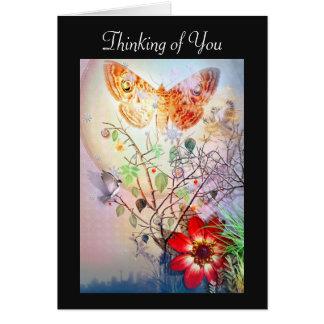 Cartão Pensamento de você