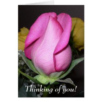 Cartão Pensamento de você!