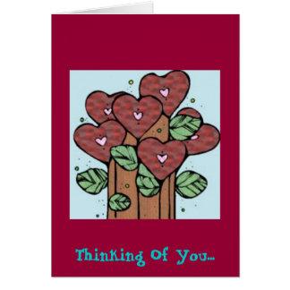 Cartão Pensamento de você….
