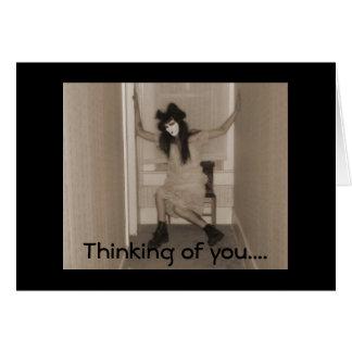 Cartão Pensamento de você .....