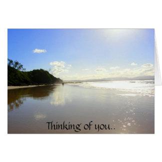 Cartão Pensamento de você.