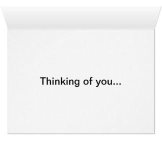 Cartão Pensamento de você #1