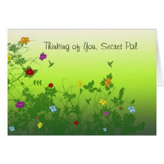 Cartão Pensamento de você amigo secreto