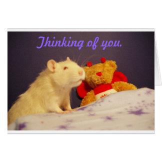 Cartão Pensamento de você com Milko.