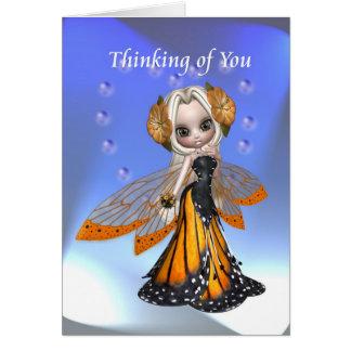 Cartão Pensamento de você feericamente