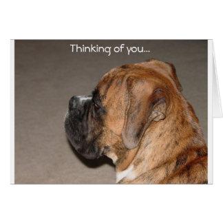 Cartão Pensamento de você pugilista
