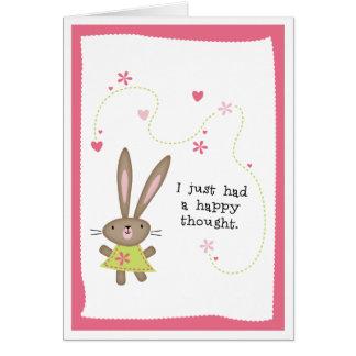Cartão Pensamento do COELHO dos PENSAMENTOS de You>HAPPY
