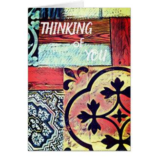 Cartão Pensamento simples de você cumprimento