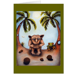 Cartão Pensamento sobre cocos