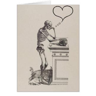 Cartão Pensamentos do esqueleto do amor