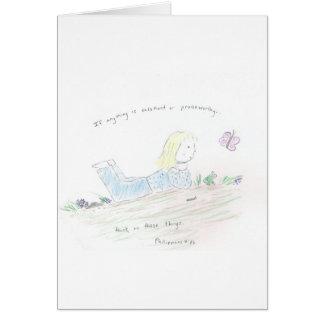 Cartão Pensamentos positivos