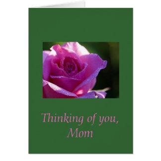Cartão Pensando de você, mamã