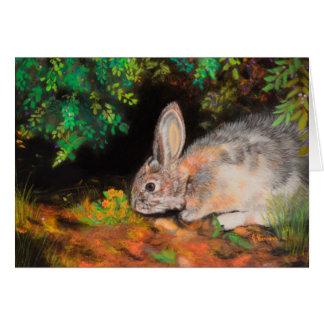Cartão Pensar sobre você carda com coelho/coelho