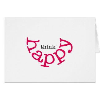 Cartão Pense feliz (o sorriso vermelho)