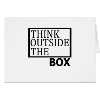 Cartão Pense fora da caixa