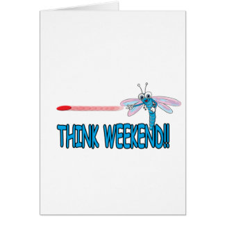 Cartão Pense o fim de semana