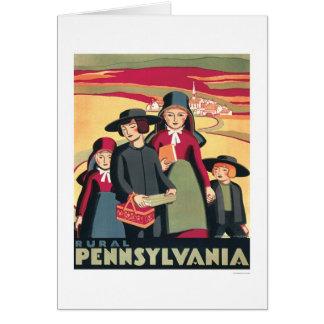Cartão Pensilvânia rural Amish WPA 1939