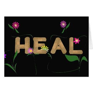 Cartão pensos rápidos médicos com flores