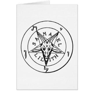 Cartão Pentagram da cabra de Samael Lilith