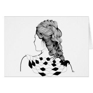 Cartão Penteado bonito da menina