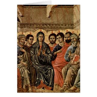 Cartão Pentecost por Duccio