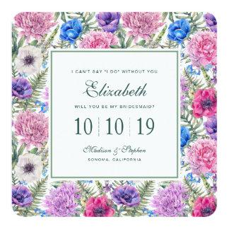 Cartão Peônia floral da aguarela | do vintage - dama de