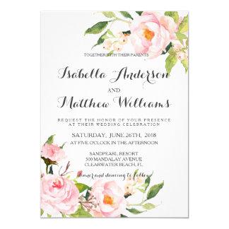 Cartão Peônia Invitation-2 Wedding floral