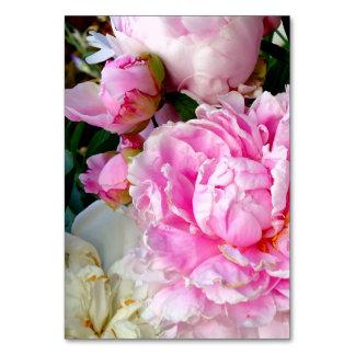 Cartão Peônias cor-de-rosa e brancas