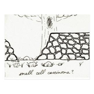 Cartão pequeno da carcinoma da pilha