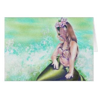 Cartão pequeno da sereia