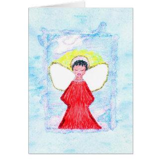 Cartão pequeno do anjo do brilho de Brown