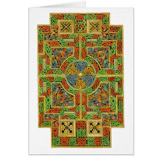 Cartão pequeno do céltico da cruz de tau