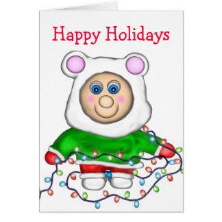 Cartão Pequeno do feriado, boas festas