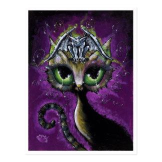 Cartão pequeno do gato da gárgula do guardião