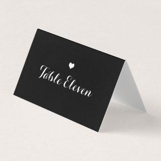 Cartão pequeno do lugar do coração do número da