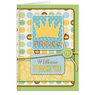 Cartão pequeno do príncipe TY