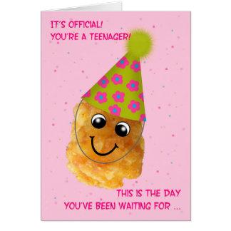 Cartão Pequeno engraçado de Tater do aniversário 13