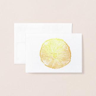 Cartão pequeno - impressão de Lino do cogumelo na