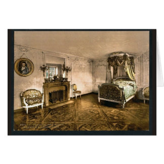 Cartão Pequeno Trianon, câmara de Marie Antoinette,