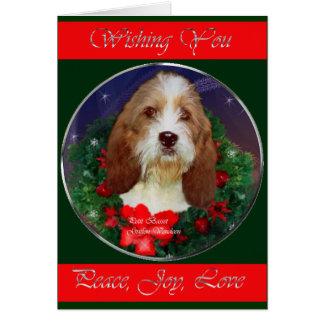 Cartão Pequenos presentes do Natal de Griffon Vendeen do
