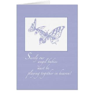 Cartão Perda 2672 de borboletas do apoio do bebê