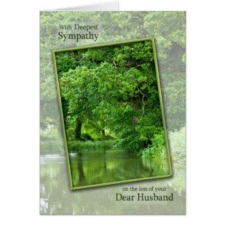 Cartão Perda da simpatia de cena tranquilo do rio do
