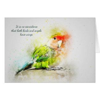 Cartão Perda de simpatia do costume do pássaro do animal