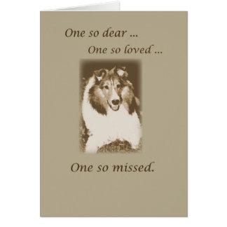 Cartão Perda do animal de estimação, simpatia do cão de