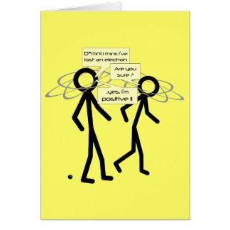 Cartão Perdendo uma piada do elétron - notelet/cartão