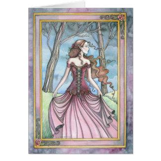 Cartão Perdido na princesa Fantasia Trabalhos de arte de