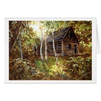 Cartão Perdido nas madeiras