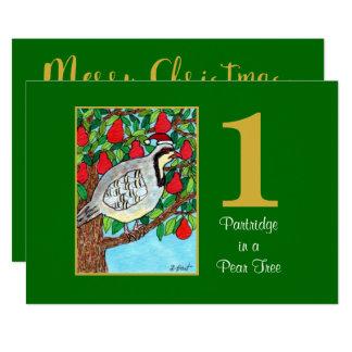 Cartão Perdiz em um Natal feito sob encomenda bonito da